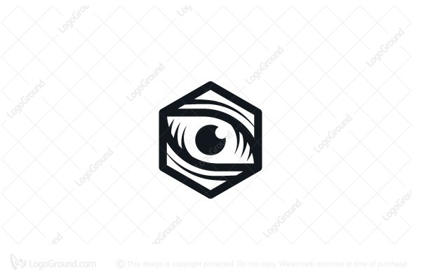 Logo for sale: Hexagon Eye Logo