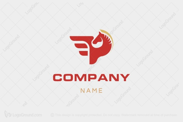 Logo for sale: Pegasus P Logo