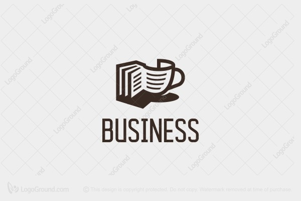 Logo for sale: Book Coffee Logo