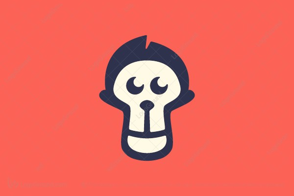 Logo for sale: Handsome Monkey Logo