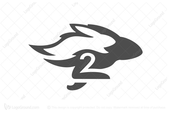 Logo for sale: Two Rabbits Logo