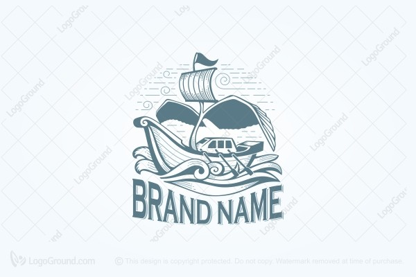 Logo for sale: Ship With Wings Logo
