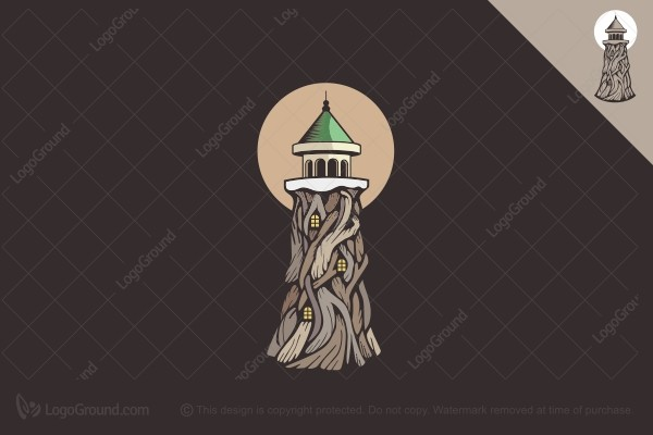 Logo for sale: Lighthouse Tree Logo