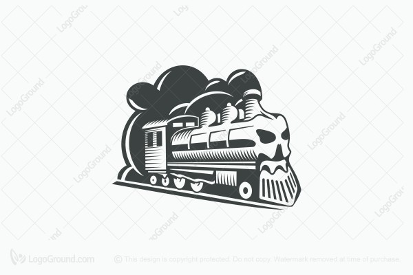 Logo for sale: Ghost Train Logo