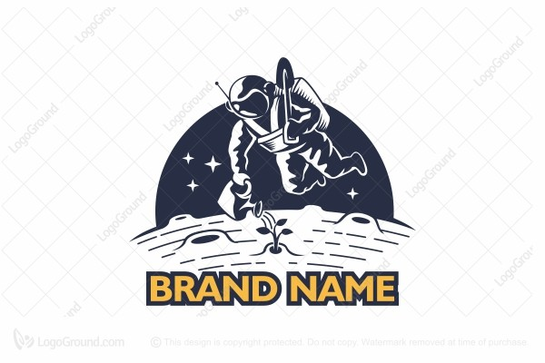 Logo for sale: Farming Astronaut Logo