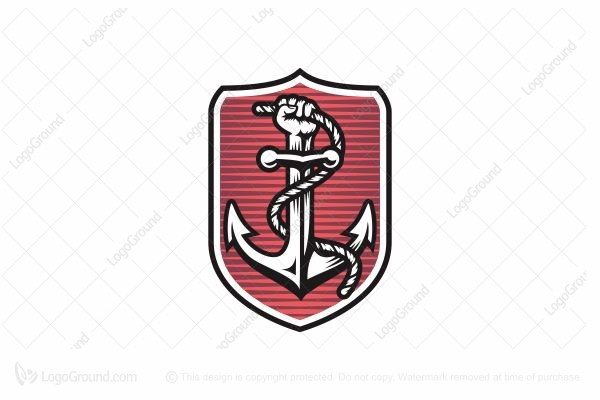 Logo for sale: Hand Anchor Logo