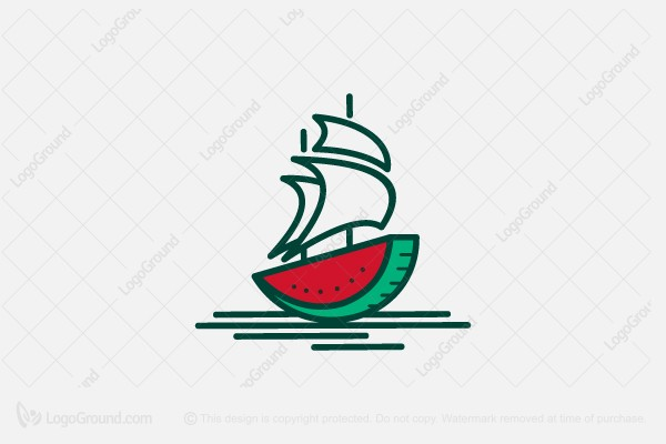 Logo for sale: Water Melon Ship Logo