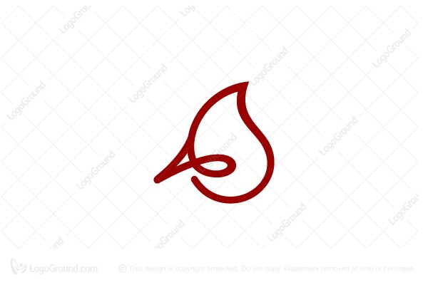 Logo for sale: Cardinal Head Letter A Logo