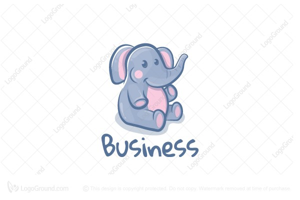 Logo for sale: Cute Elephant Logo