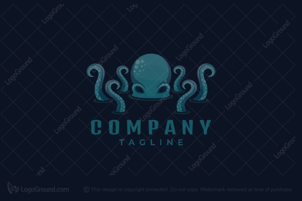 Logo for sale: Sneaky Octopus Logo