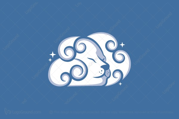 Logo for sale: Lion Cloud Logo