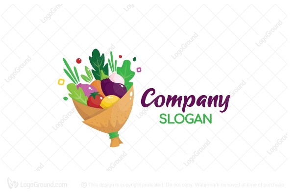 Logo for sale: Veggies Bouquet Logo