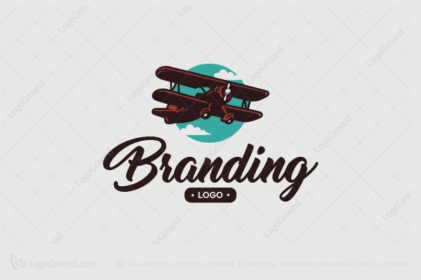 Logo for sale: Airplane Chasing The Sky Logo