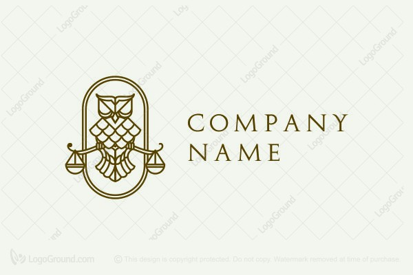 Logo for sale: Law Owl Logo