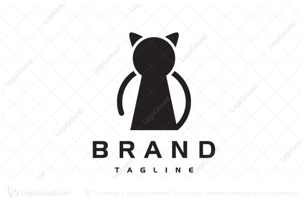 Logo for sale: Cat Secret Logo