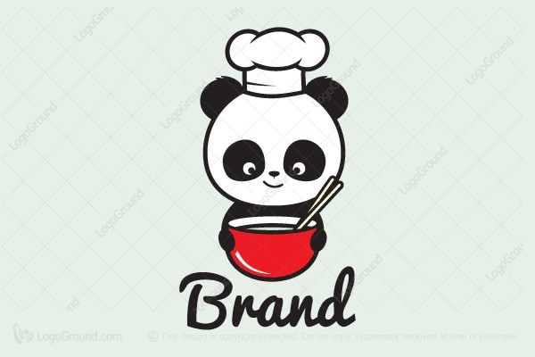 Logo for sale: The Panda Chef Logo