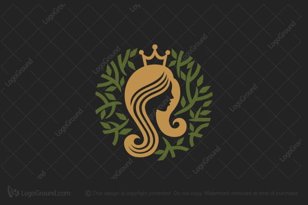 Logo for sale: Queen Of Leaves Logo