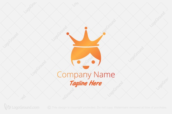 Logo for sale: Little Queen With Crown Logo