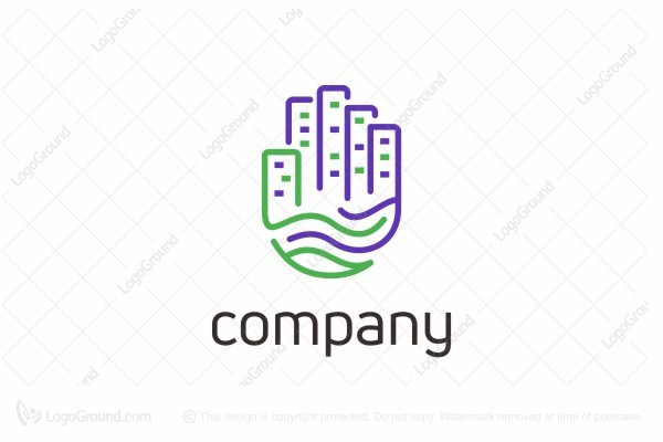 Logo for sale: City Hand Logo