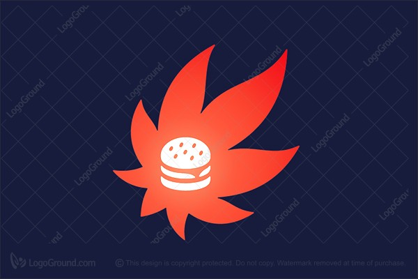 Logo for sale: Fiery Burger Logo