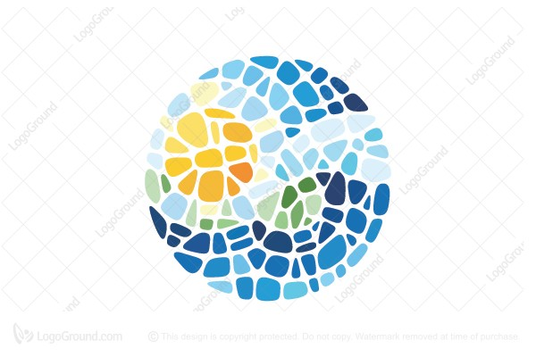 Logo for sale: Travel Mosaic Logo