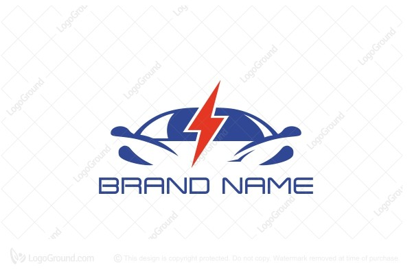 Logo for sale: Electric Car Logo