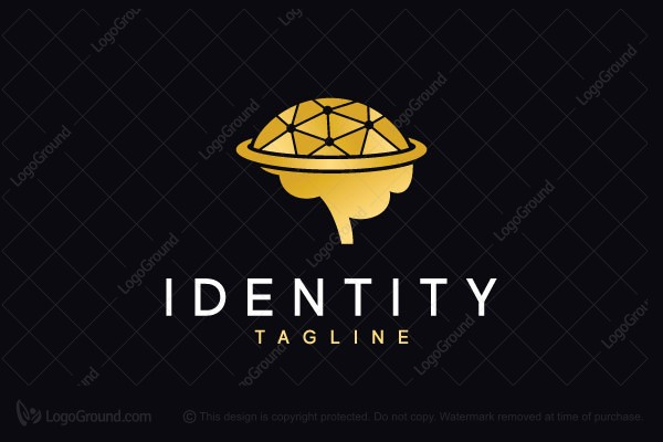 Logo for sale: Golden Brain Logo