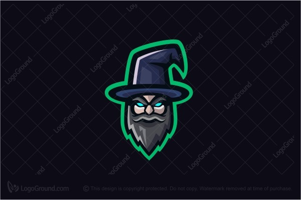 Logo for sale: Mascot Wizard Logo