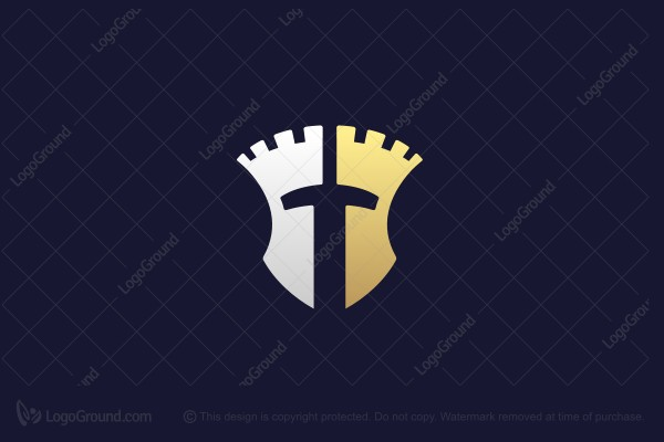 Logo for sale: Sword Tower Knight Logo