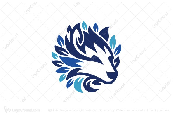 Logo for sale: Husky Wolf Dog Logo