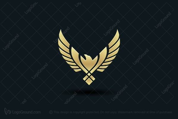 Logo for sale: Ornamental Phoenix Logo