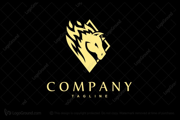 Logo for sale: Firemane Stallion Logo
