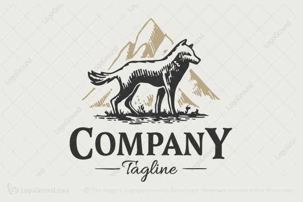 Logo for sale: Mountain Wolf Logo