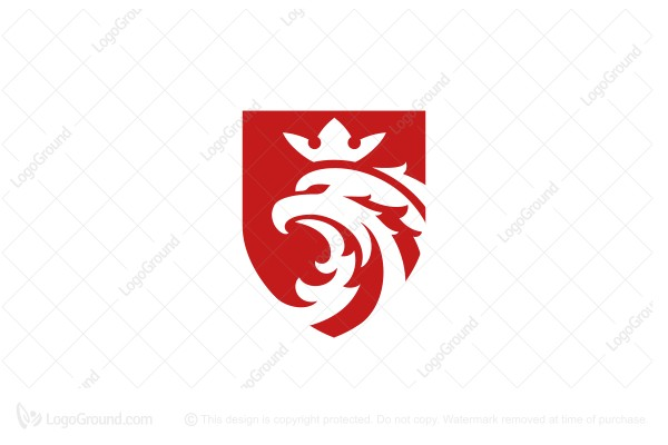 Logo for sale: Red Eagle Crown Logo