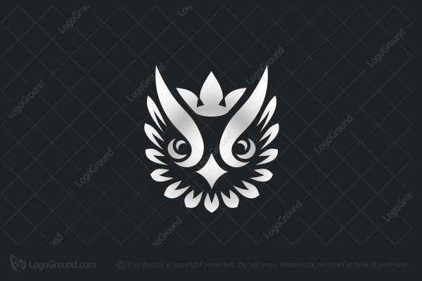 Logo for sale: Crowned Silver Owl Logo