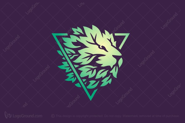 Logo for sale: Green Leaf Lion Logo