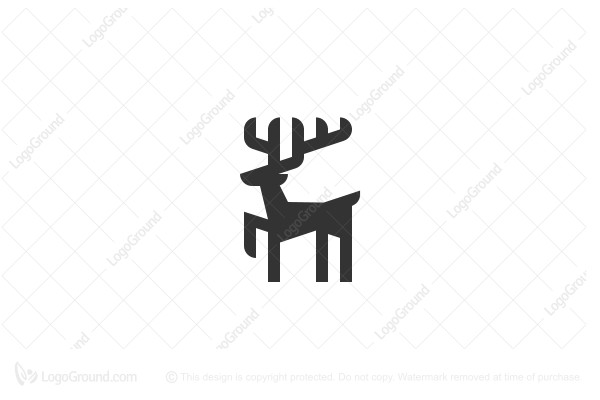 Logo for sale: Geometric Deer Logo