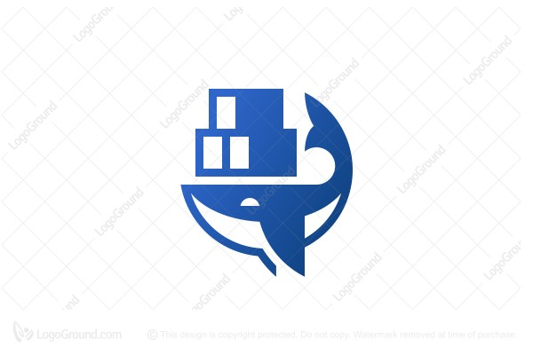 Logo for sale: Blue Whale Intermodal Logo