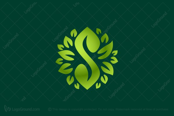 Logo for sale: Leafy Round S Logo