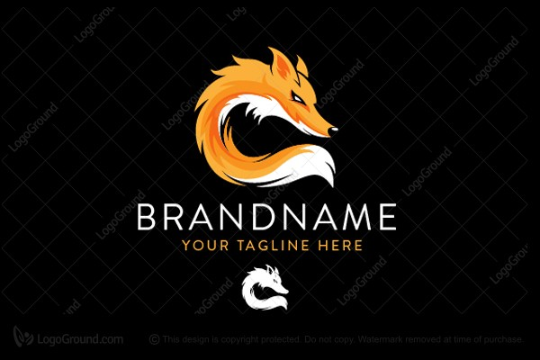 Logo for sale: Cute And Strong Fox Logo