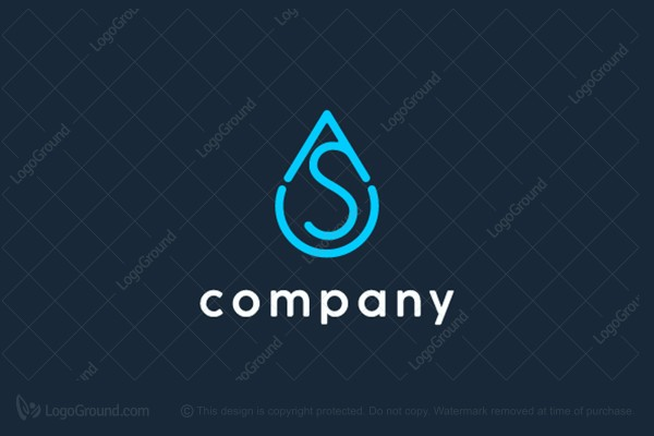 Logo for sale: AS water logo