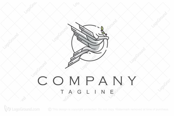 Logo for sale: Dove Line Art Health Logo