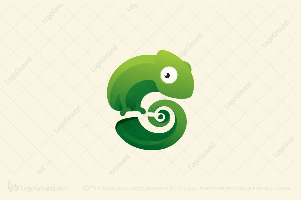 Logo for sale: Fascinating Chameleon Logo