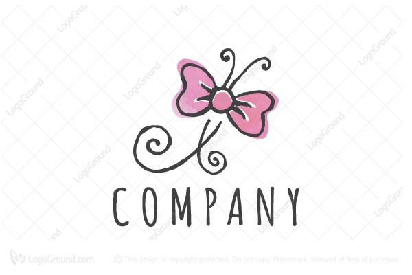 Logo for sale: Butterfly Bow Logo