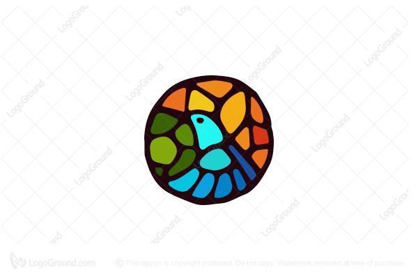 Logo for sale: Stained Glass Bird Logo
