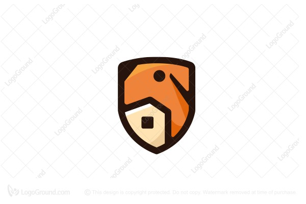 Logo for sale: Shield Dog And House Logo