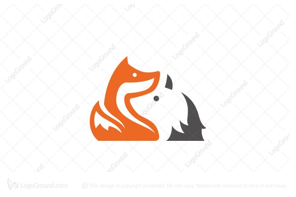 Logo for sale: Fox And Wolf Logo