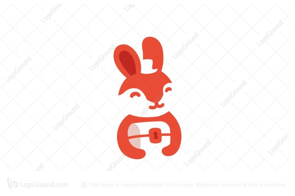 Logo for sale: Rabbit With A Chest Logo