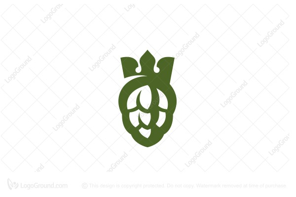 Logo for sale: Hops And Crown Logo