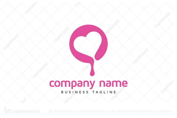Logo for sale: Melting Heart Logo